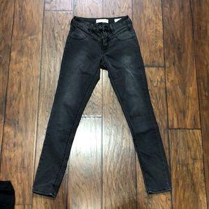 High waisted dark gray pants size 0